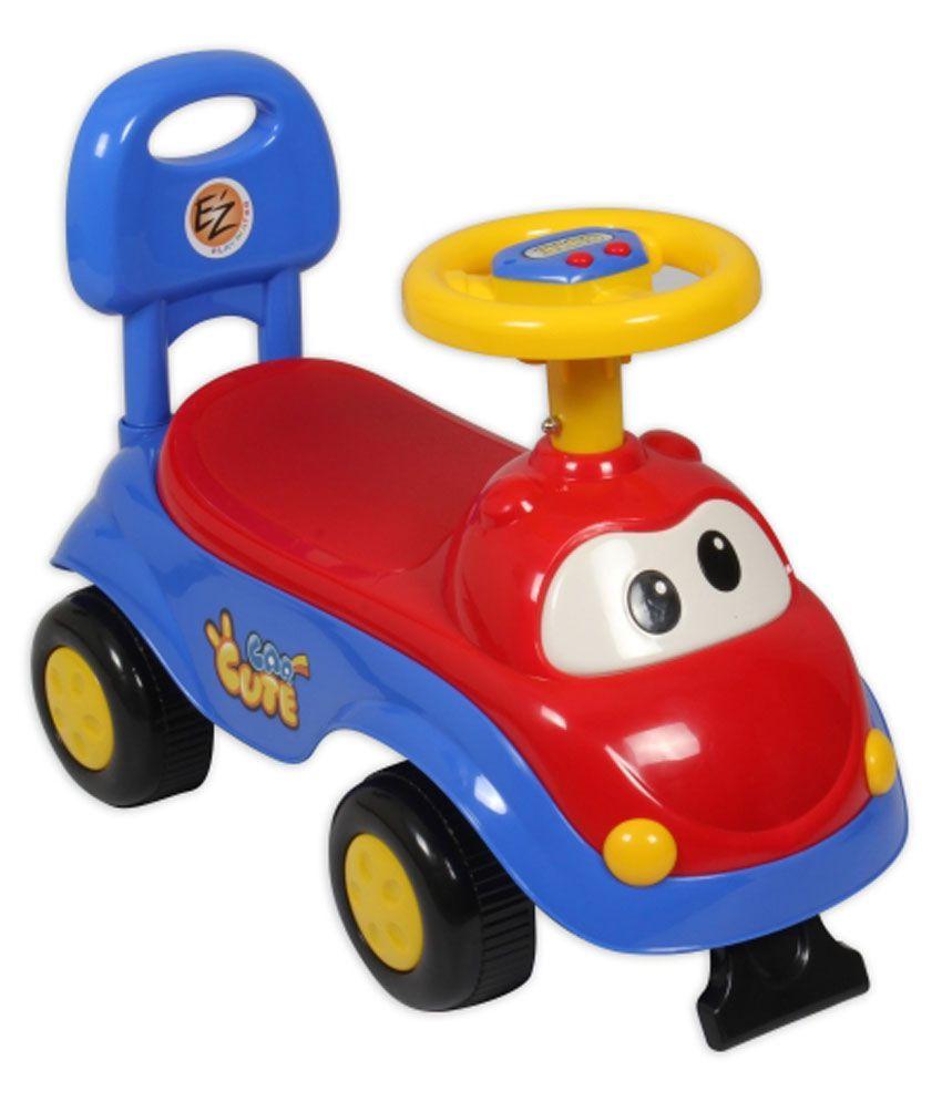 EZu0027 PLAYMATES CUTE CAR KIDS RIDE ON REDBLUE