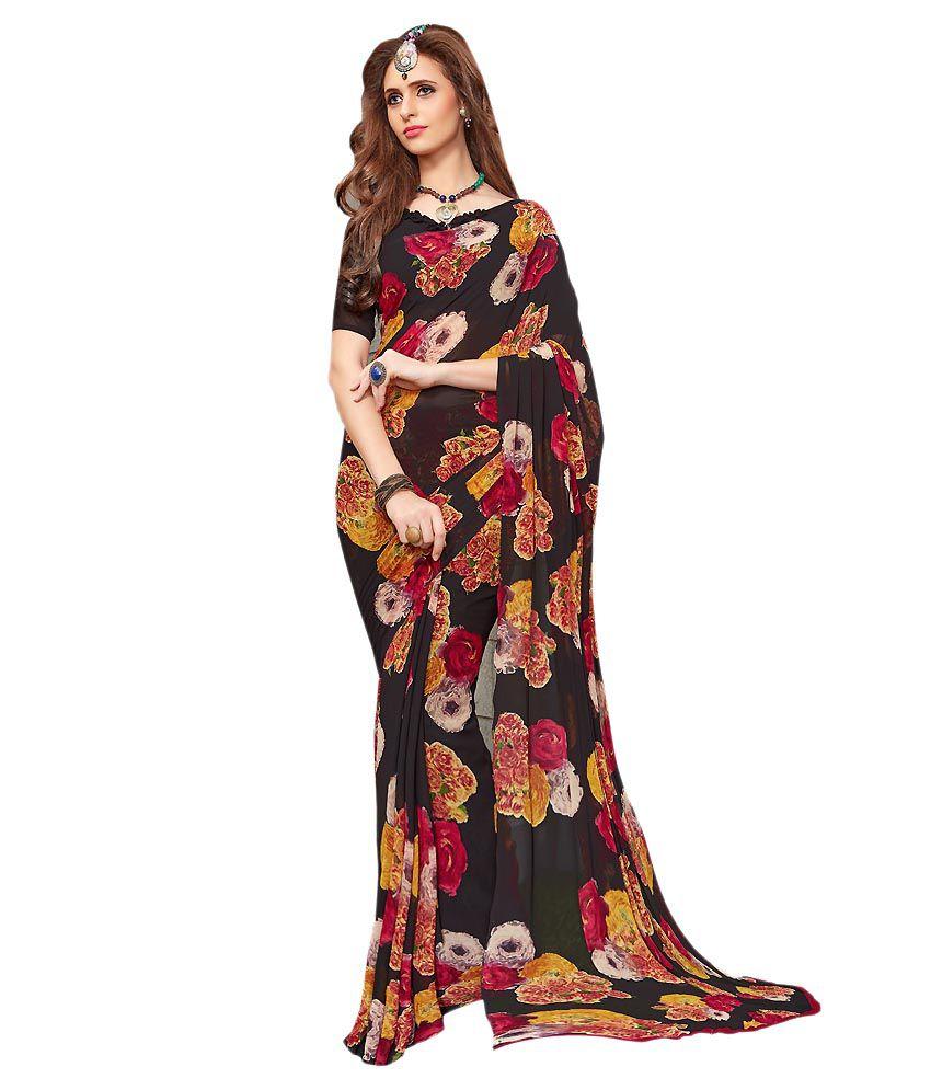 Reveka Fashion Multicoloured Georgette Saree