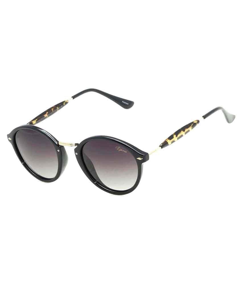 Izarra Black Round Sunglasses