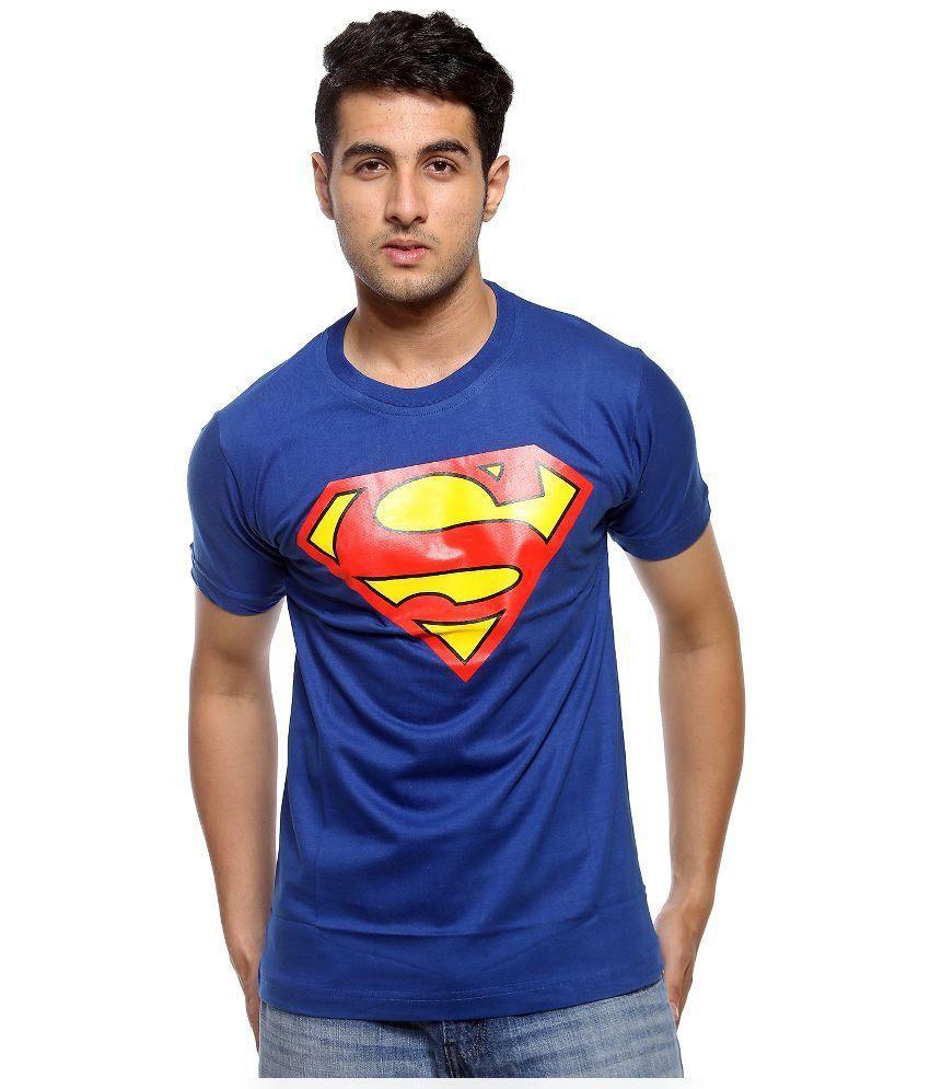 A4Attitude Blue Round T Shirt