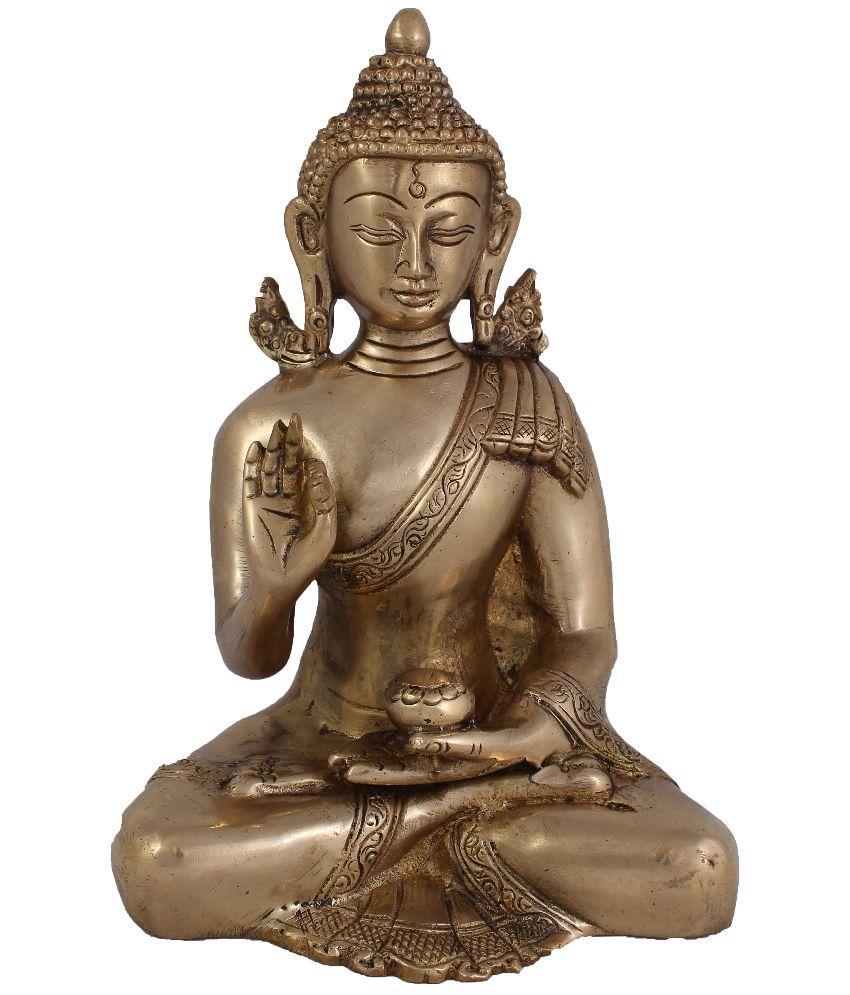 Arihant Craft Glossy Brass Lord Buddha Idol