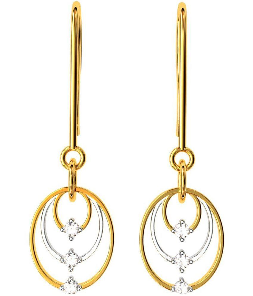 BlueCarats Yellow18Kt Gold Hanging Earrings