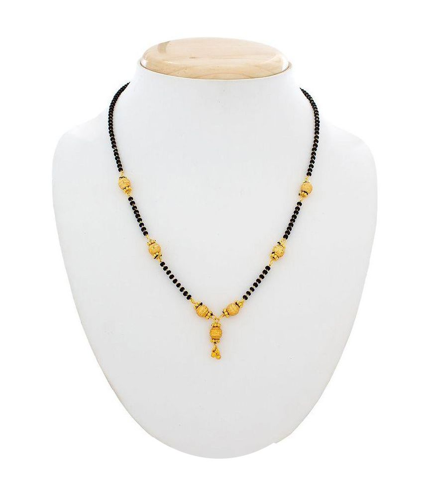 The Luxor Alloy Gold Plating Black Coloured Mangalsutra