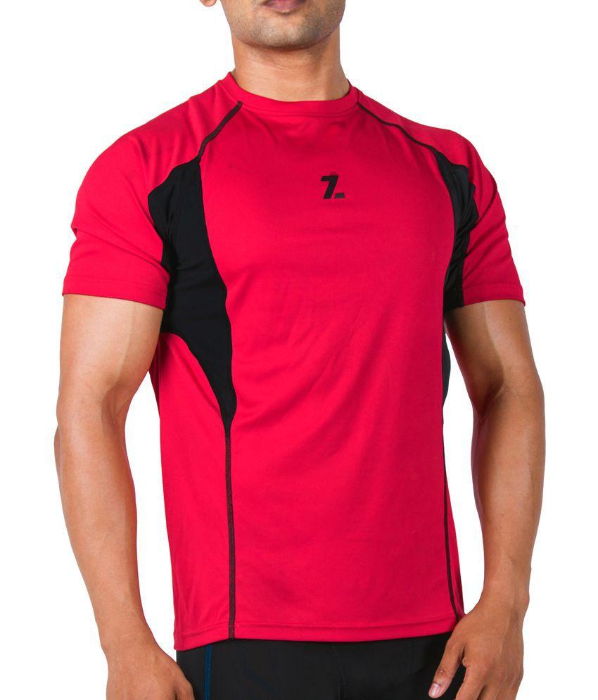 Azani Men's Sub-Zero Tech Short Sleeve T-Shirt Crimson Red/Black