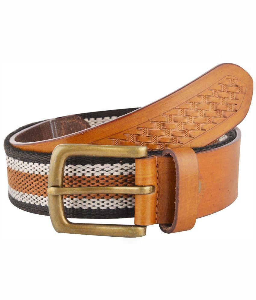 Rebo Multicolour Leather Belt for Men