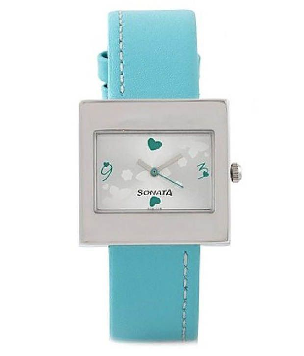 Sonata Turquoise Yuva Collection Steel Analog Leather Watch for Women