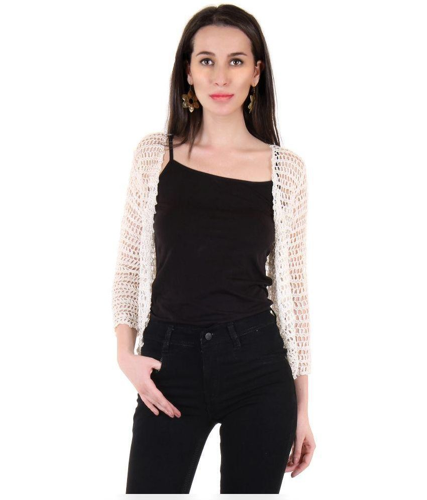 2c728ed35 Buy The Crochet Company Off White Cotton Shrugs Online at Best Prices in  India - Snapdeal