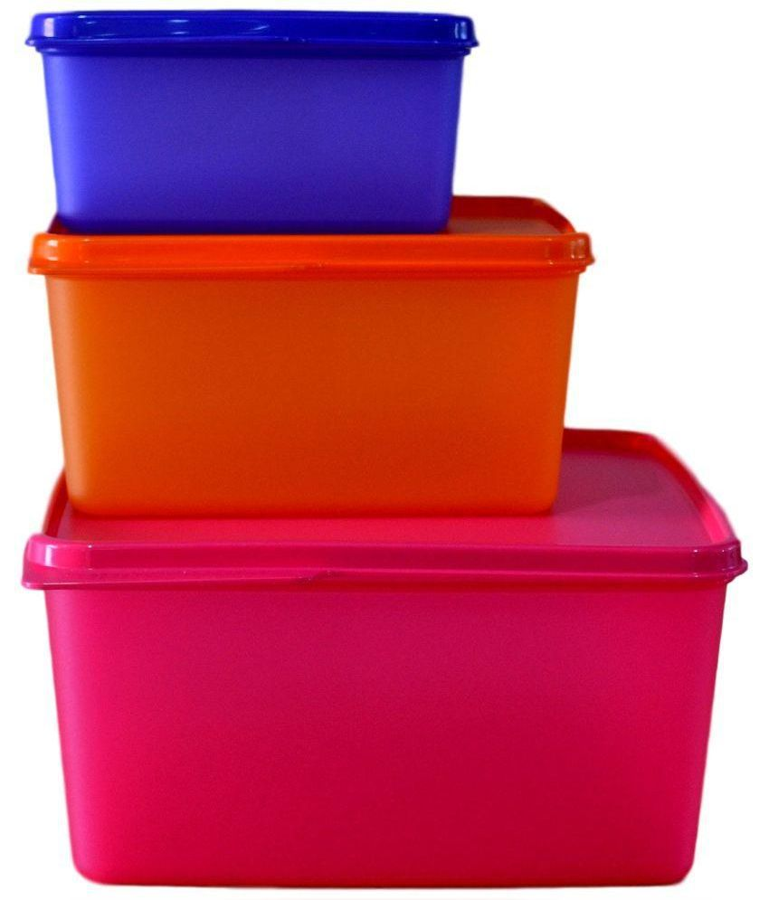 Tupperware Multicolour Keep Tab Containers Set Of 3