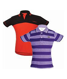 Gkidz Multicolor Polo T-Shirt - Pack of 2
