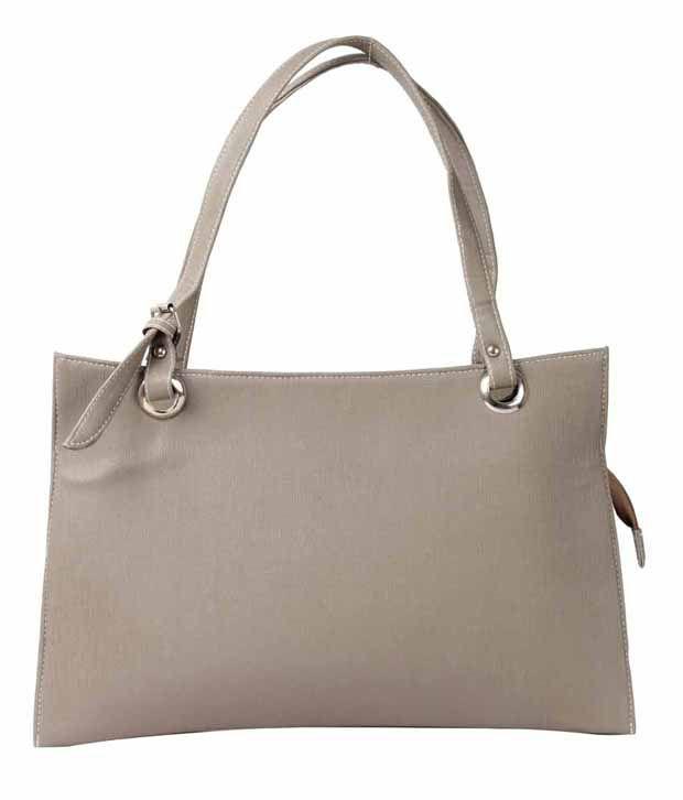 Bellina Gray P.U. Shoulder Bag