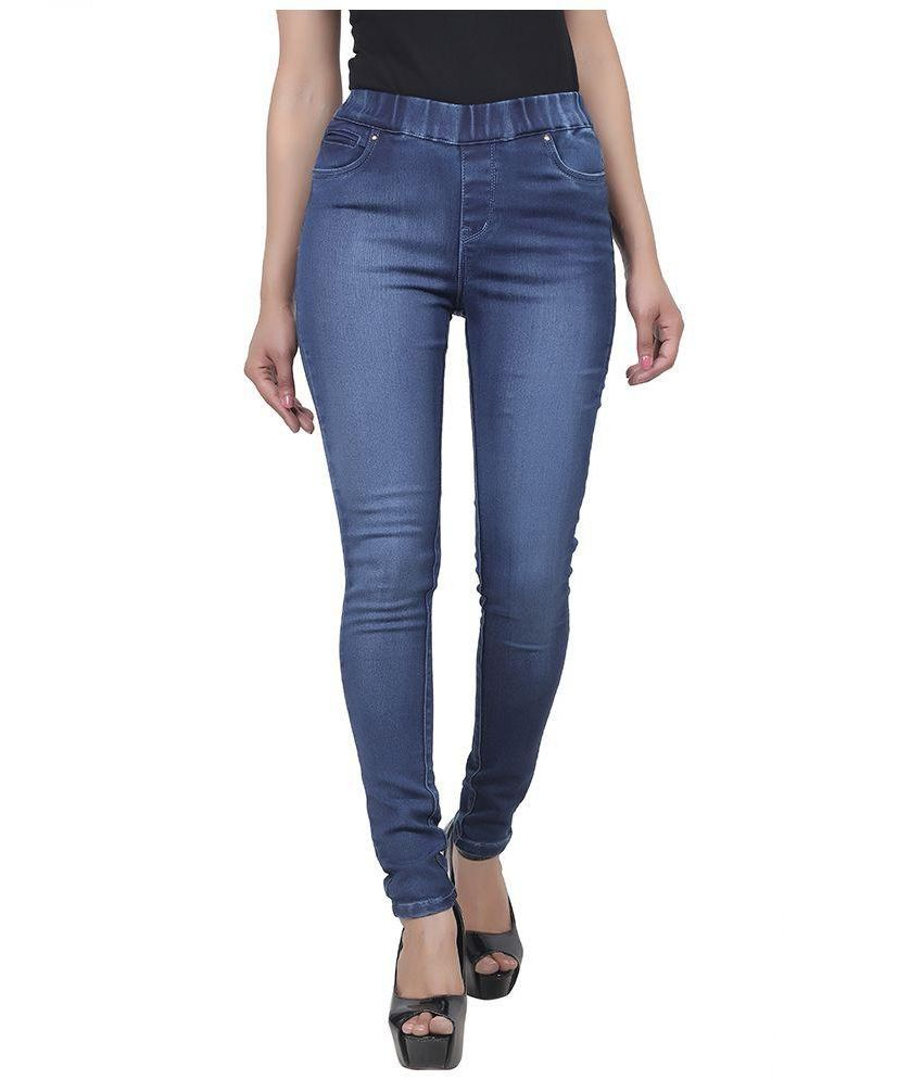 c02eca8f46f16d Buy Freespirit Blue Denim Jeggings Online at Best Prices in India - Snapdeal