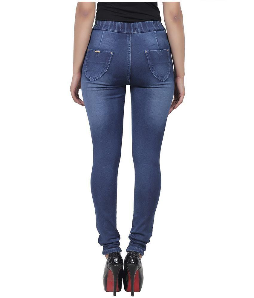 898e672bfea530 Buy Freespirit Blue Denim Jeggings Online at Best Prices in India ...