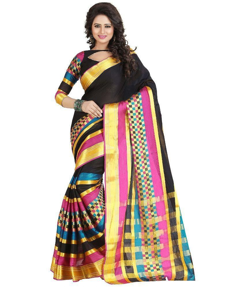 Harsh Sarees Multicoloured Cotton Saree