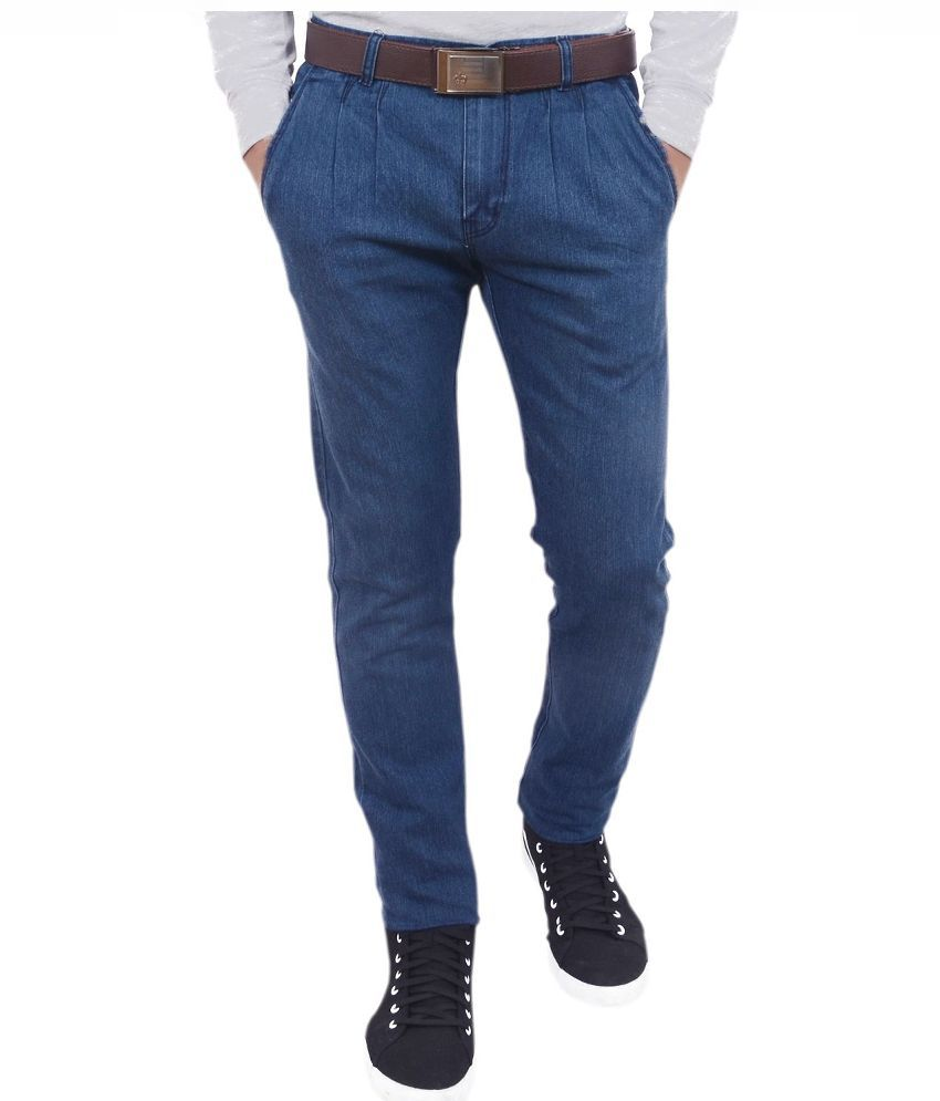 Hartmann Blue Slim Fit Solid Jeans