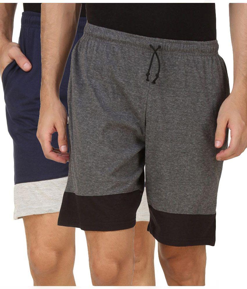 Kritika World Multi Shorts Pack of 2
