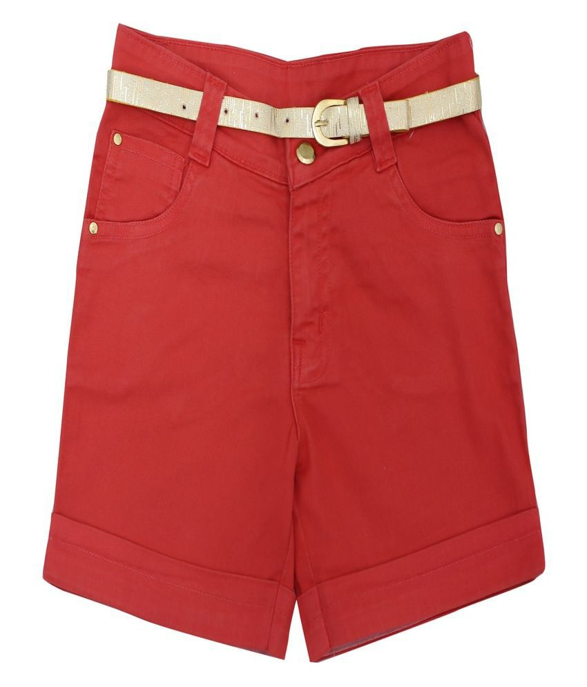 Titrit Orange Cotton Shorts