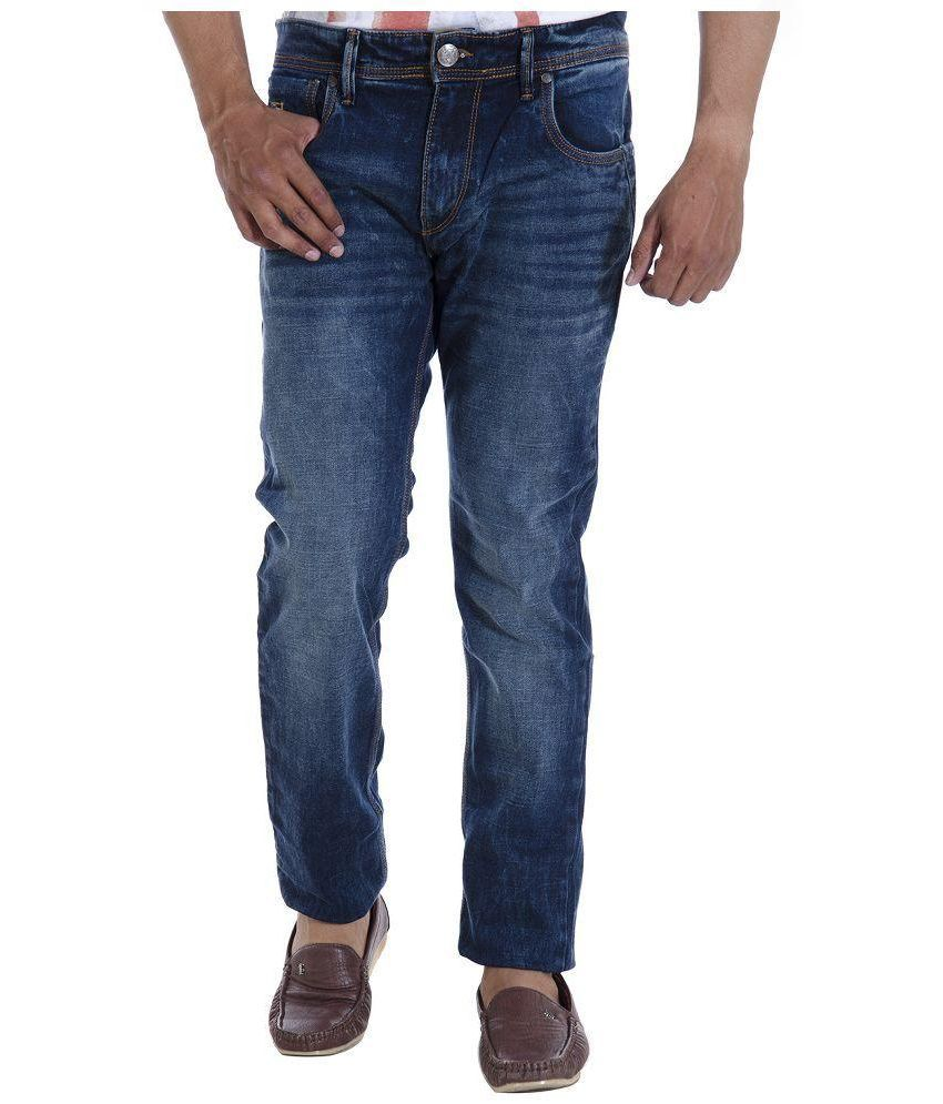 U.S. Polo Assn. Blue Regular Fit Washed Jeans