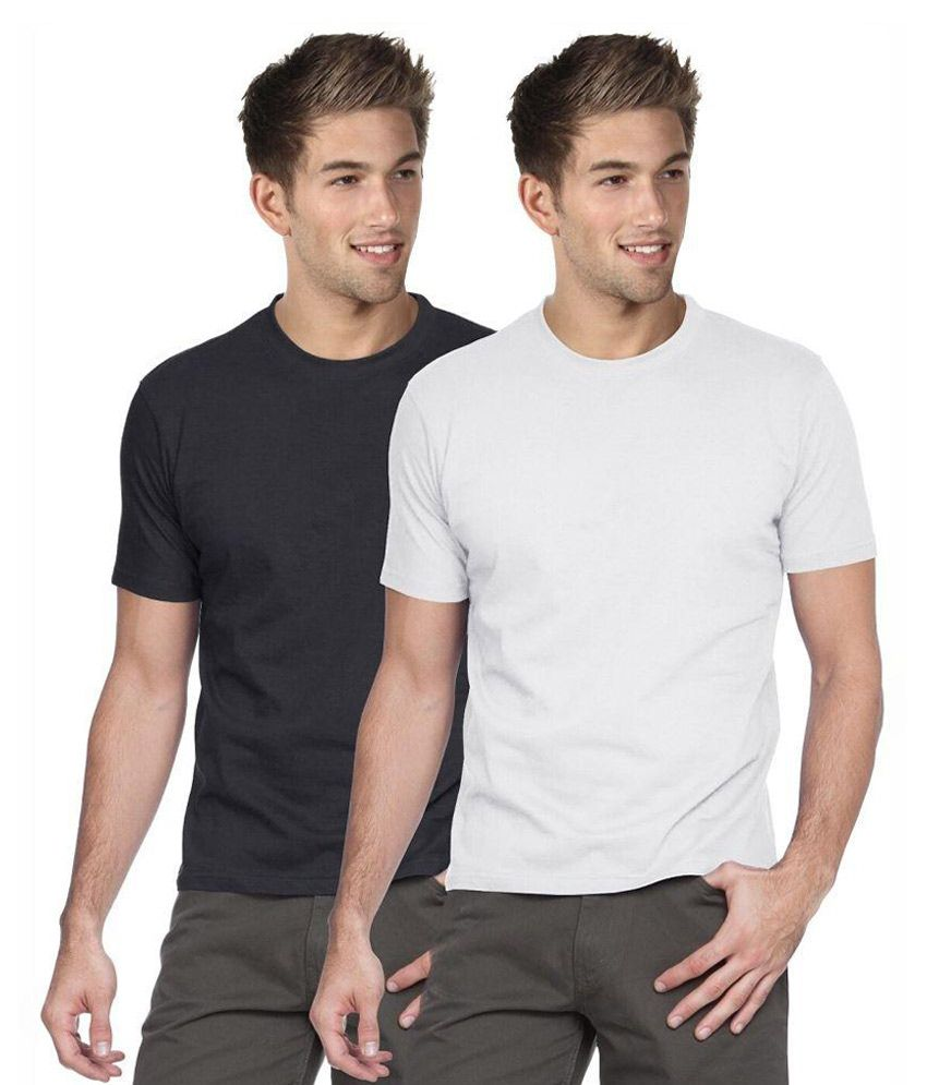 Blackburne Inc Multi Round T Shirt Black & White