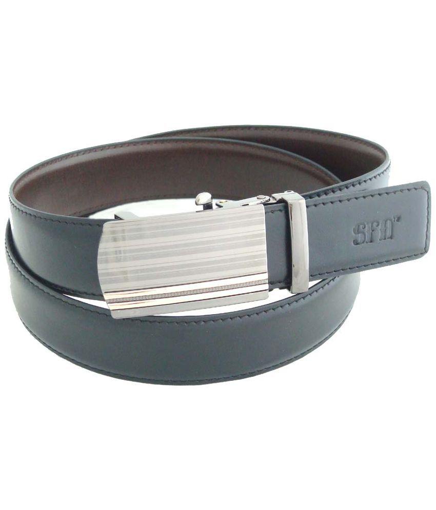 SFA Black and Brown Reversible Belt for Men