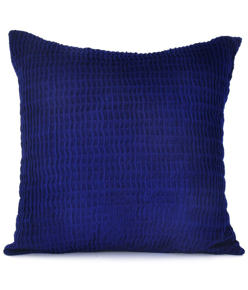 @home by Nilkamal Blue Polyester Cushion Covers