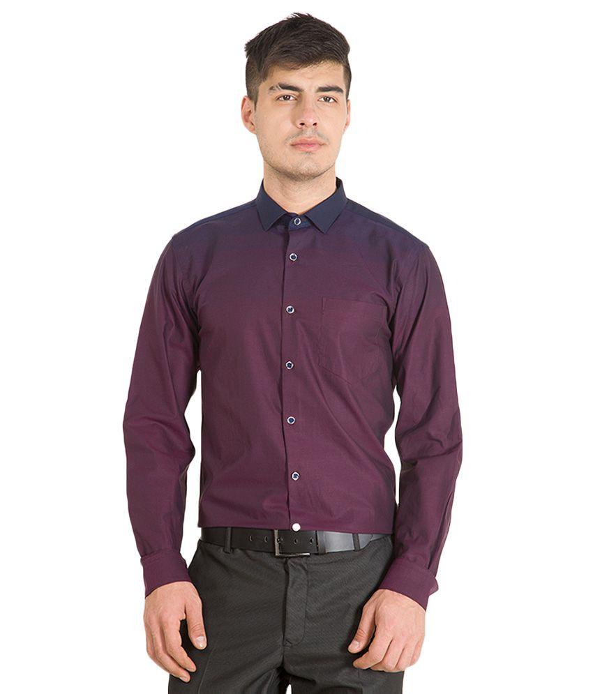 Black Coffee Purple Slim Fit Shirt