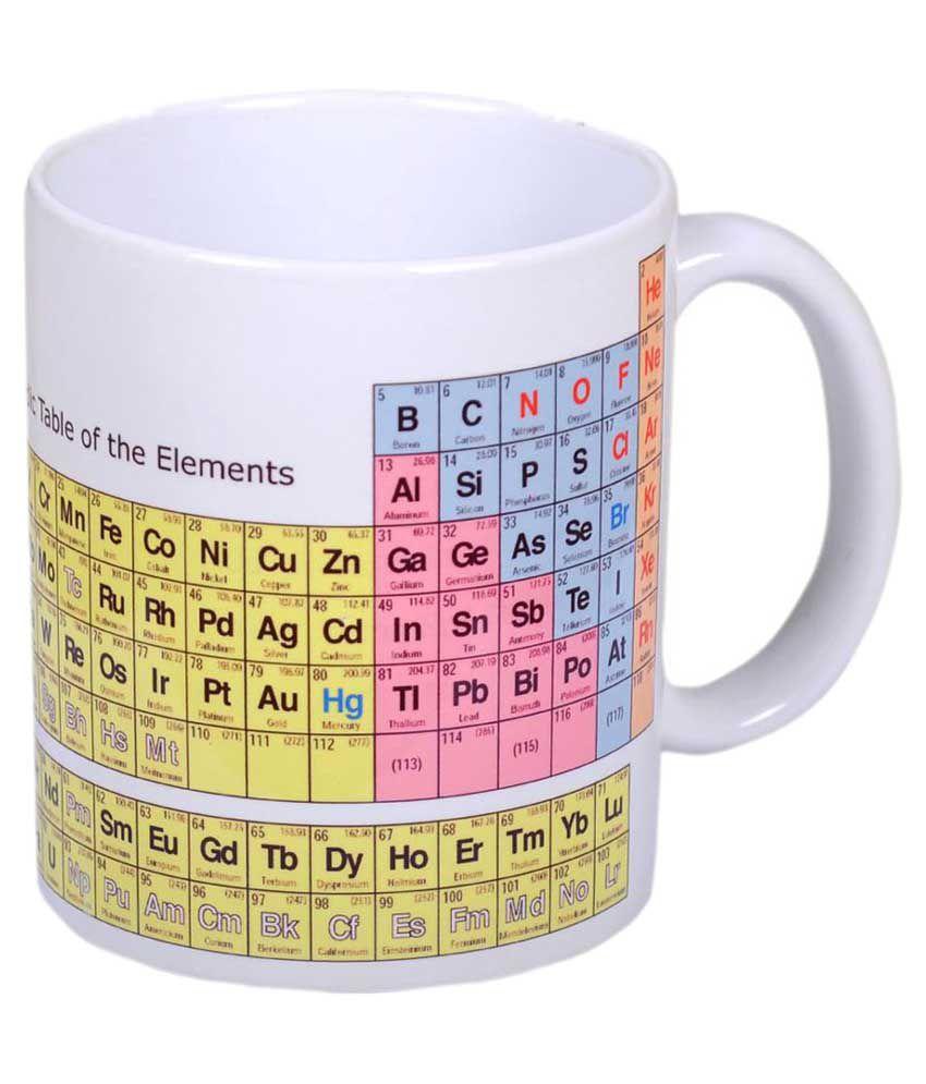 Noozarts Ceramic Periodic Table Mug
