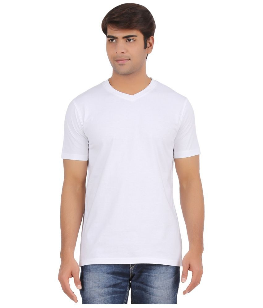 Regiment White V-Neck T Shirt
