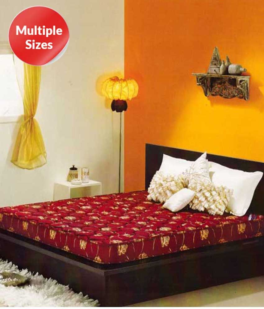 kurlon poly cotton medium firm foam mattress buy kurlon poly