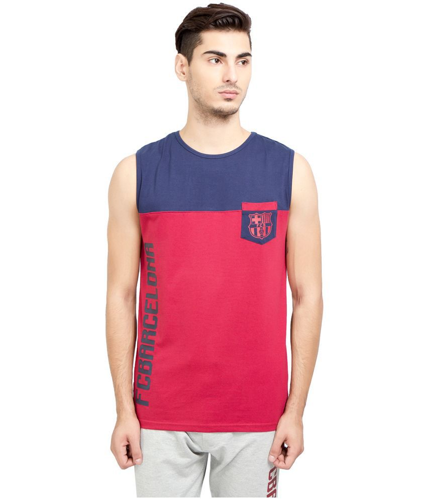 FC Barcelona Red Round T Shirt