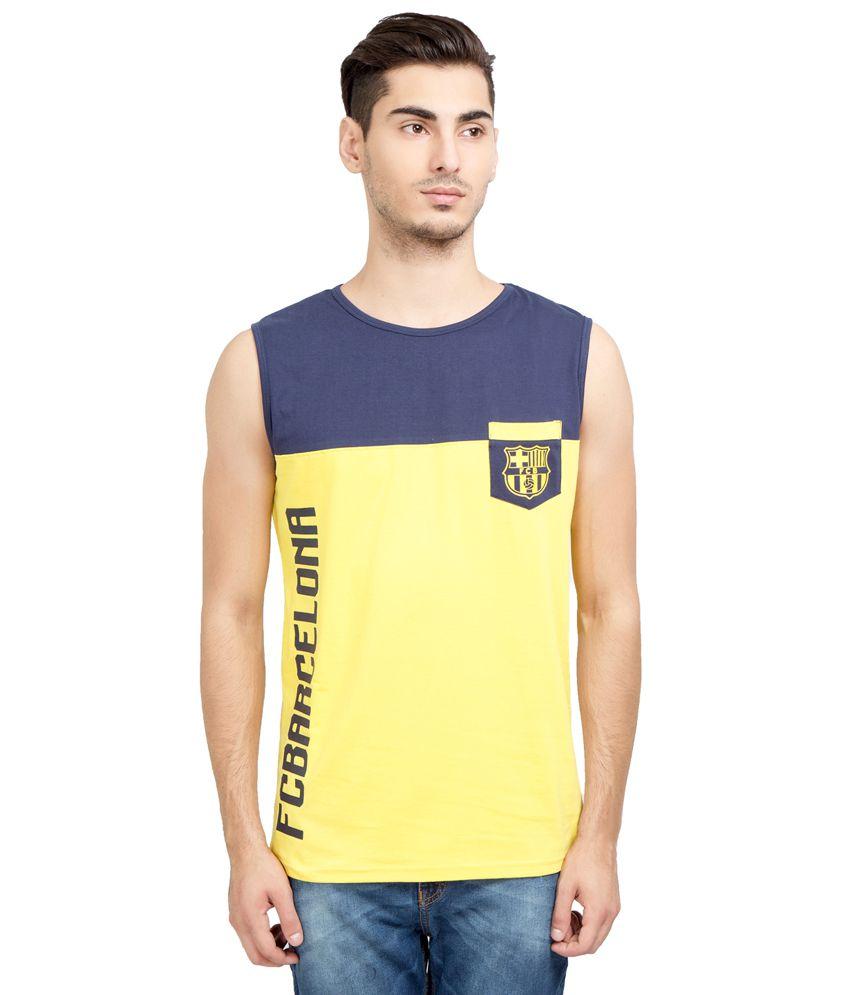 FC Barcelona Yellow Round T Shirt