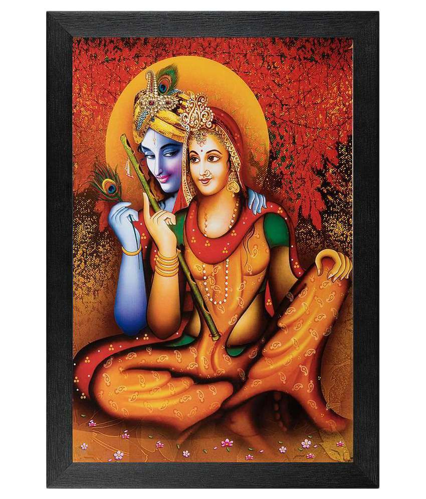 JAF Multicolour Religious Painting with Frame