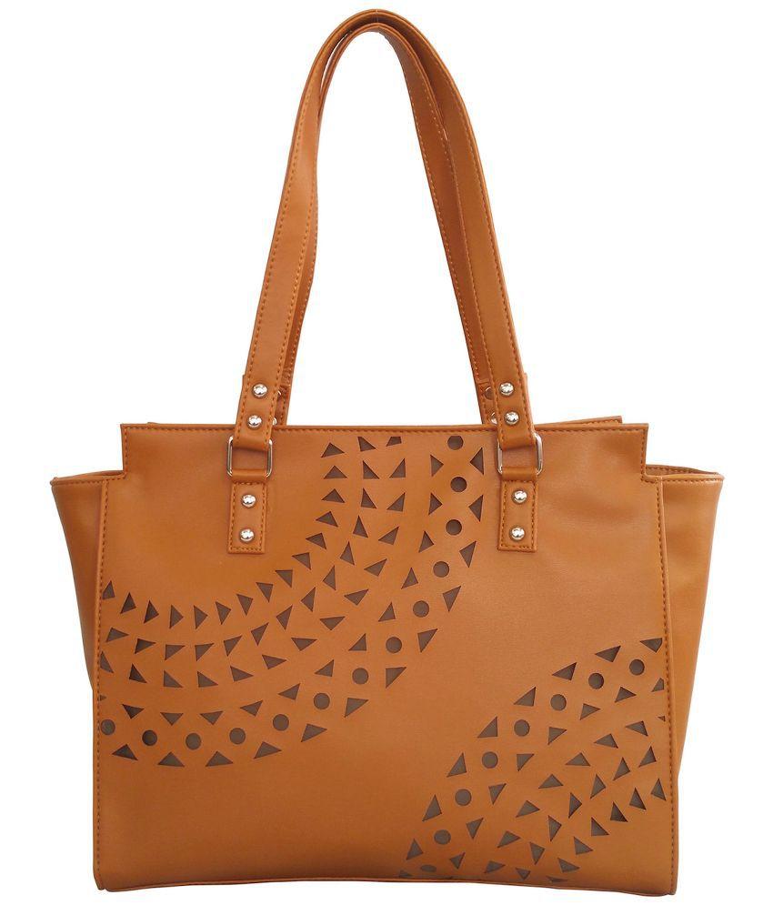 Toteteca Bag Works Tan Faux Leather Shoulder Bag