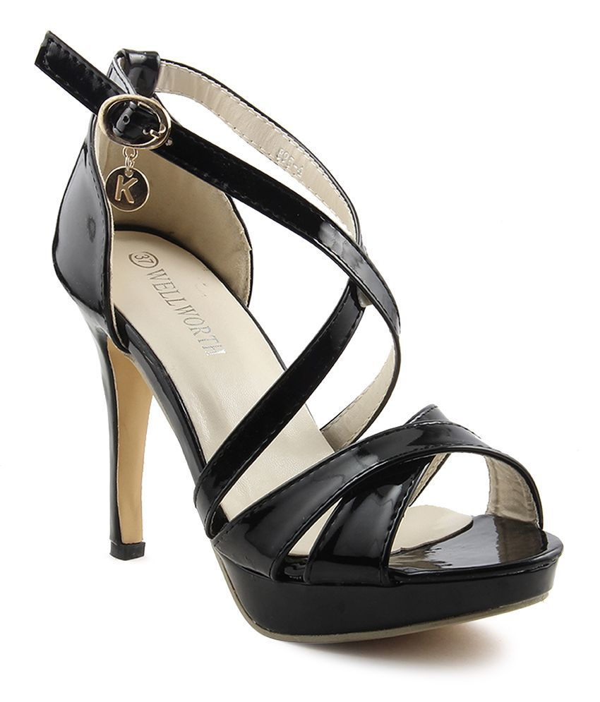 Wellworth Black Stiletto Heels