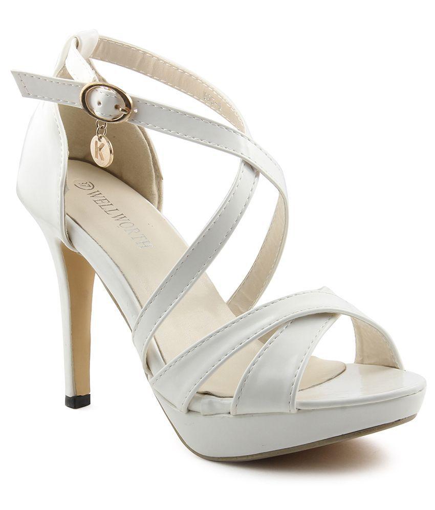 Wellworth White Stiletto Heels
