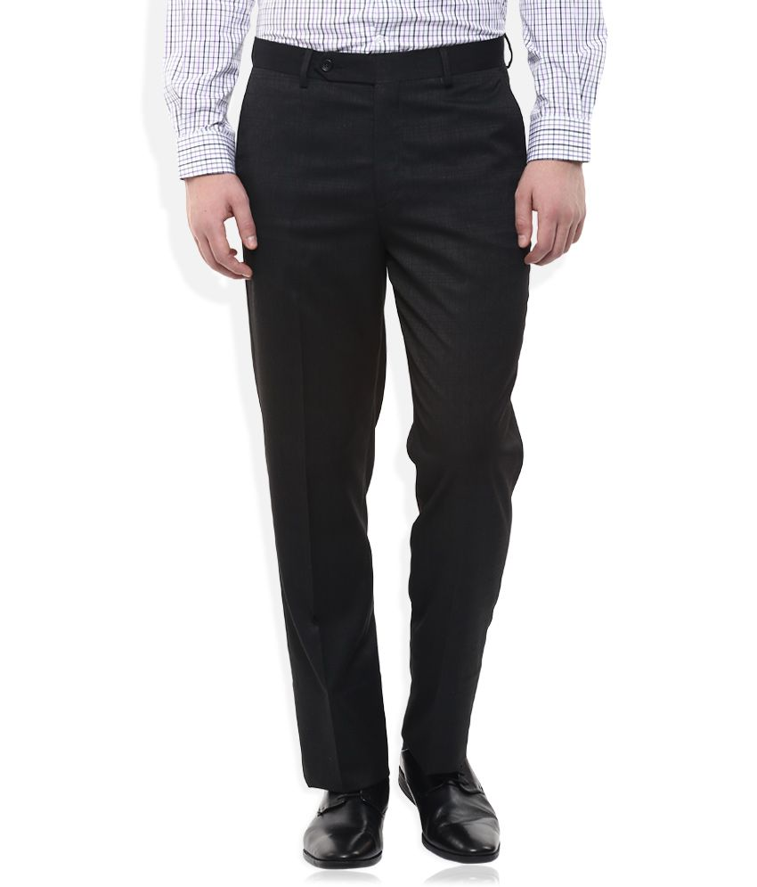 Wills Lifestyle Grey Regular Fit Trousers