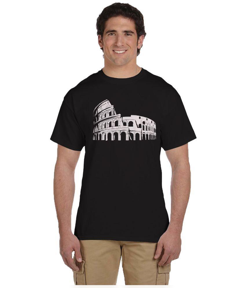 Haunting Dragons Black Round T Shirt