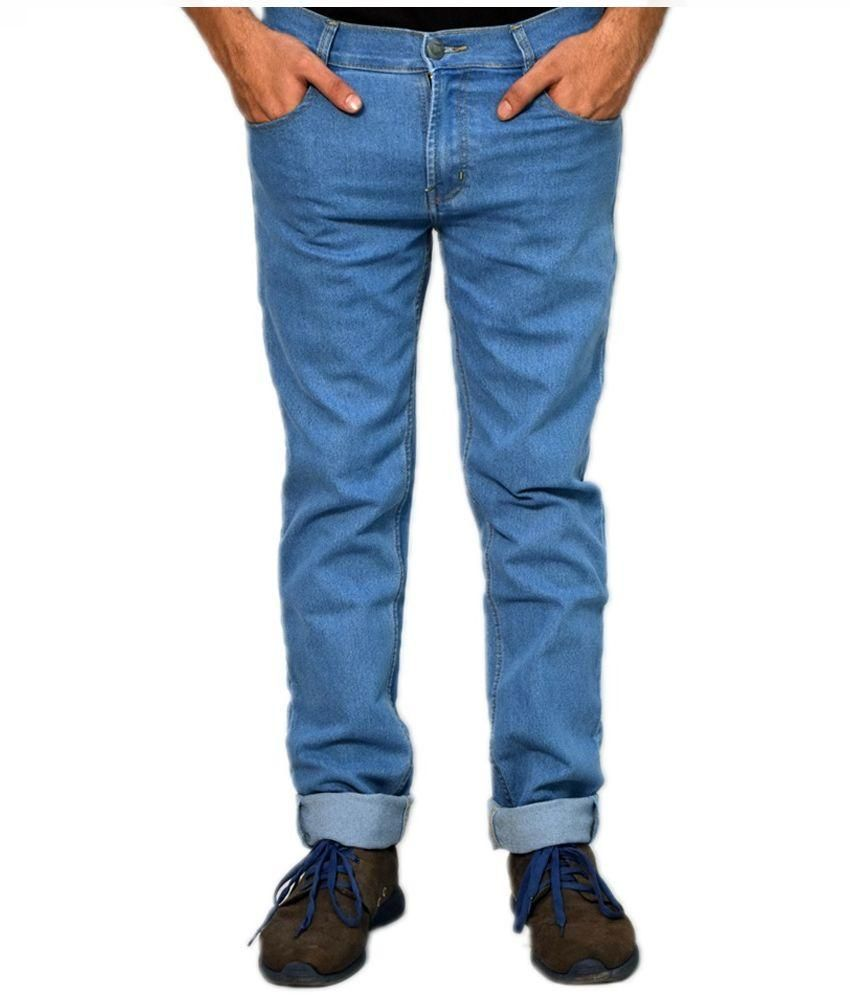 Jack Klein Blue Regular Fit Solid Jeans