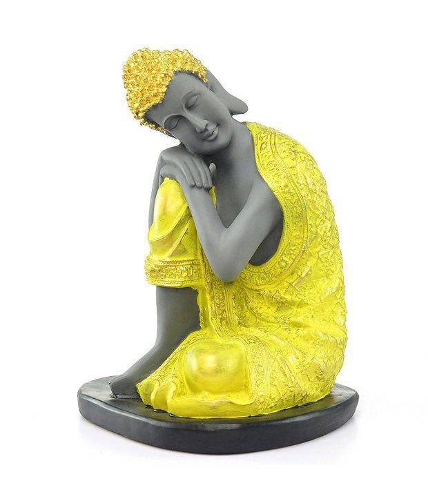 @home By Nilkamal Yellow Resin Religious Idol
