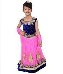Arshia Fashions Blue and Pink Lehenga Choli Set