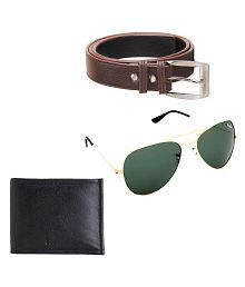 Elligator Combo of Wallet, Belt and Sunglasses for Men
