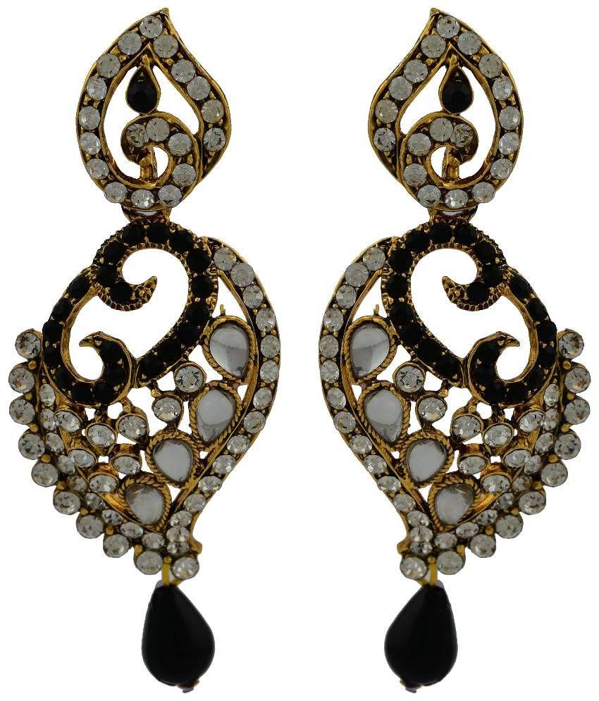 High Trendz Multicolour Alloy Hangings Earrings