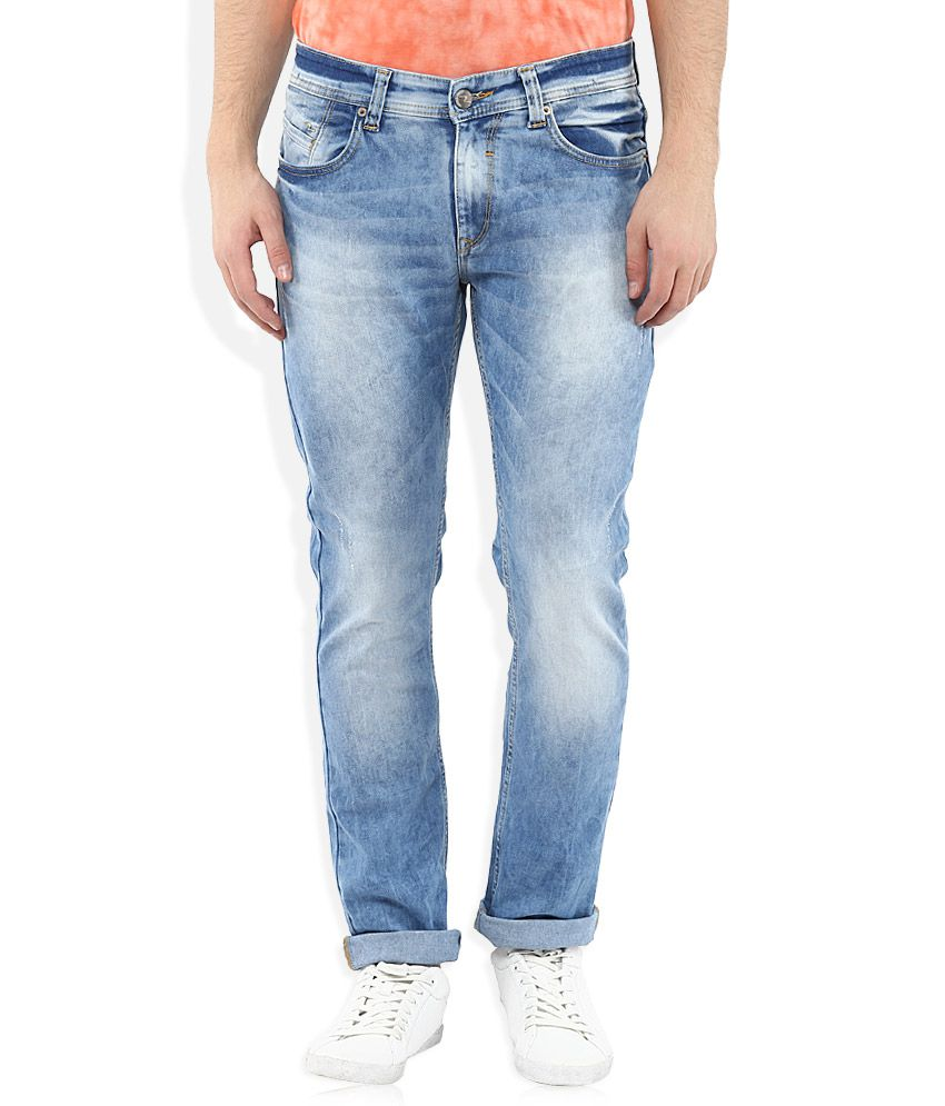 Spykar Blue Slim Fit Jeans
