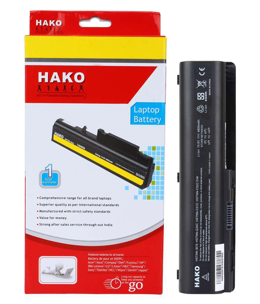 Hako 4800mAh 6 Cell Li-ion Laptop Battery For HP Dv5-1139tx Dv5-1140br