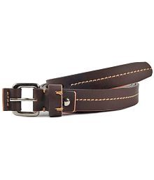 Waist Wire Brown Leather Belt For Women