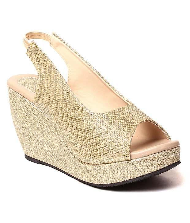 Creative Gold Wedges Heels