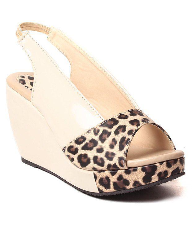 Creative White Wedges Heels