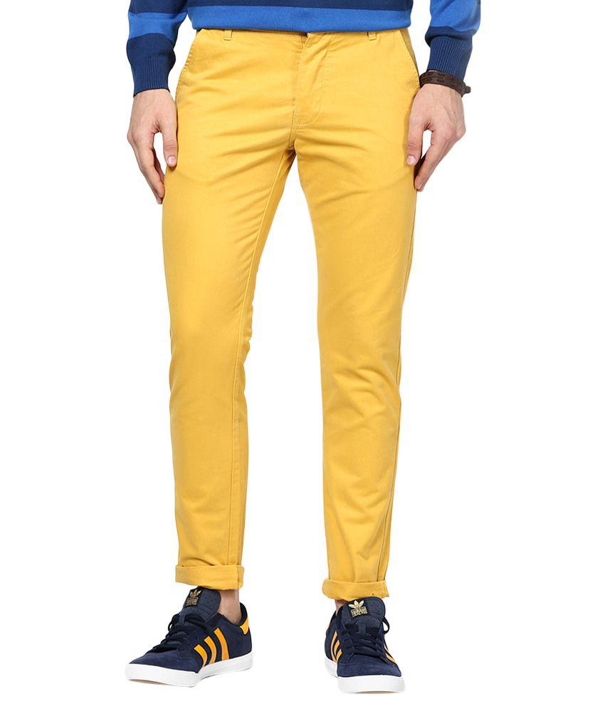 Jack & Jones Yellow Slim Fit Trousers