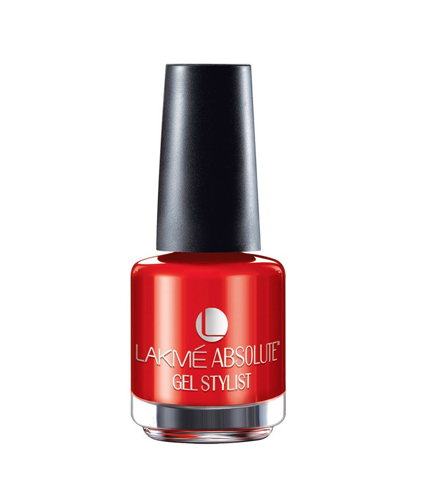 Lakme Absolute Gel Stylist Red Lush Nail Paint 15 ml: Buy Lakme ...
