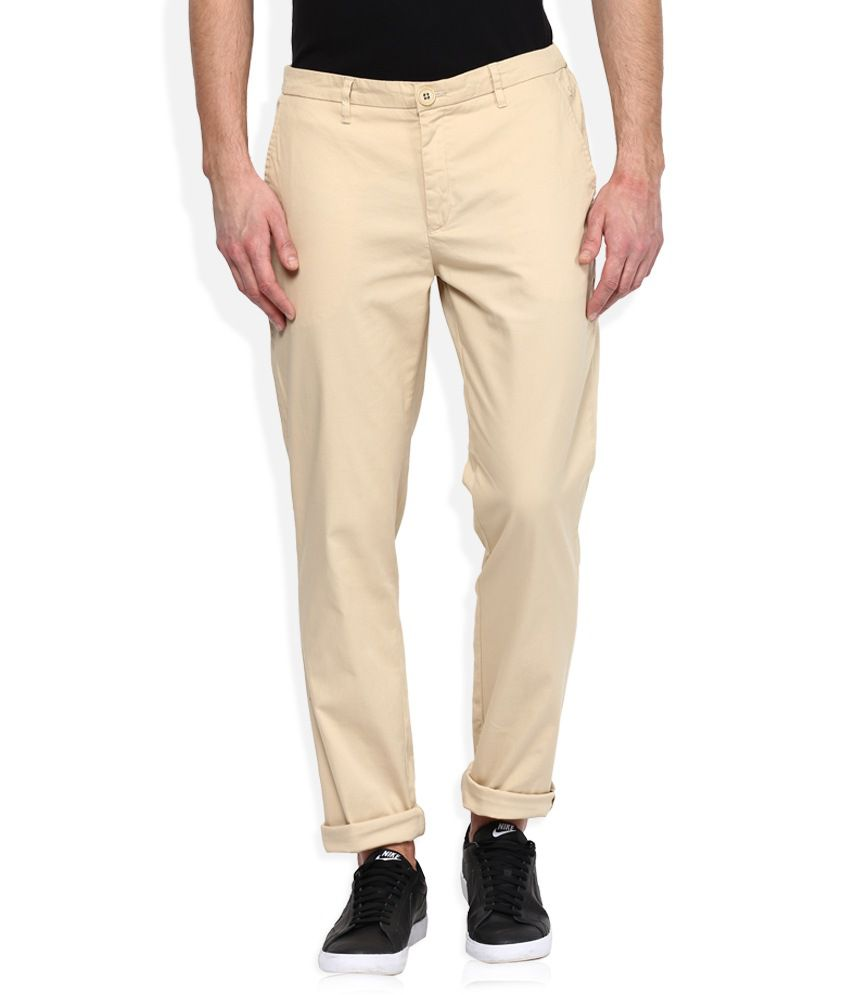 United Colors of Benetton Beige Slim Fit Trousers