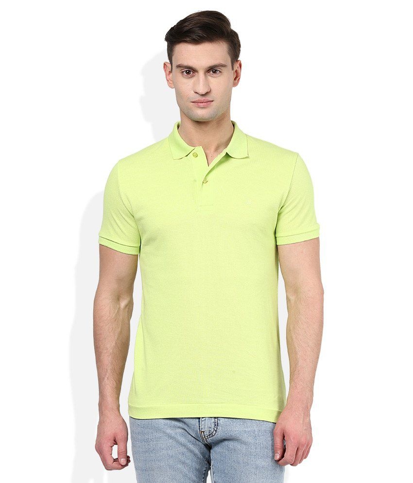United Colors of Benetton Green Polo Neck T-Shirt
